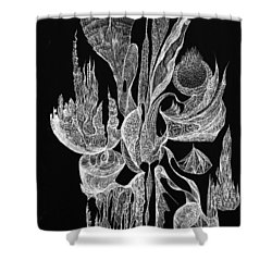Sea Filigree Shower Curtain by Charles Cater