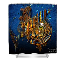 Shower Curtain featuring the painting Sea Fish by Alexa Szlavics