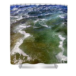 Artistic Ocean Photo Shower Curtain