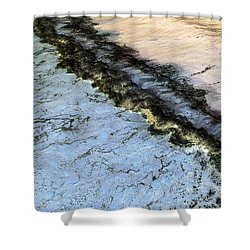 Sea Foam Pit Shower Curtain