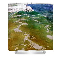 Colorful Ocean Photo Shower Curtain