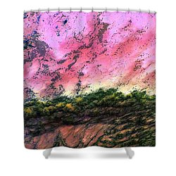 Sea Foam Art Shower Curtain