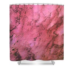 Sea Foam In Pink Shower Curtain