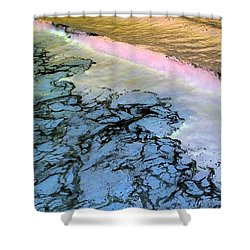 Sea Foam Pink Shower Curtain