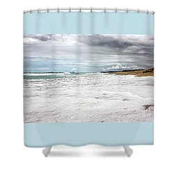 Shower Curtain featuring the photograph Sea Foam And Clouds By Kaye Menner by Kaye Menner
