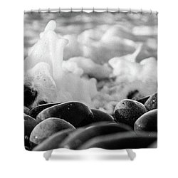 Sea Foam B-w Shower Curtain