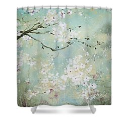 Shower Curtain featuring the painting Sea Foam by Laura Lee Zanghetti