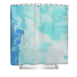 Shower Curtain featuring the painting Sea Foam by Nikki Marie Smith