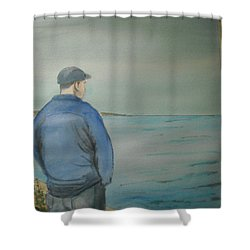 Sea Gaze Shower Curtain by Anthony Ross