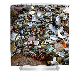 Sea Glass Gems Shower Curtain by Amelia Racca
