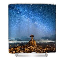 Shower Curtain featuring the photograph Sea Goddess Statue, Bali by Pradeep Raja Prints
