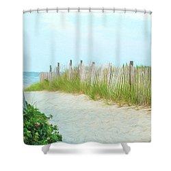 Sea Gull Beach #1 Shower Curtain