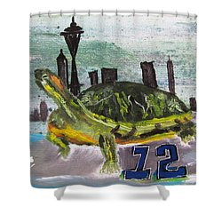 Sea Hawks Go Shower Curtain