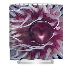 Shower Curtain featuring the digital art Sea Heart by Linda Sannuti