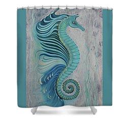 Sea Horse Visit Shower Curtain