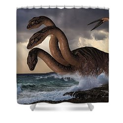 Sea Hydra Shower Curtain