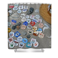 Sea Isle City Beach Tags Shower Curtain