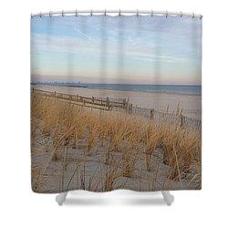 Sea Isle City, N J, Beach Shower Curtain