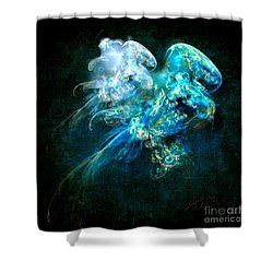 Shower Curtain featuring the painting Sea Jellyfish by Alexa Szlavics