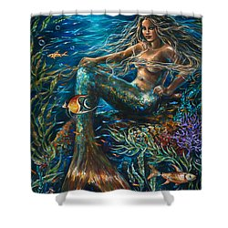 Sea Jewels Mermaid Shower Curtain