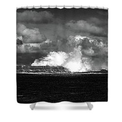 Shower Curtain featuring the photograph Sea Meets Sky by Nareeta Martin