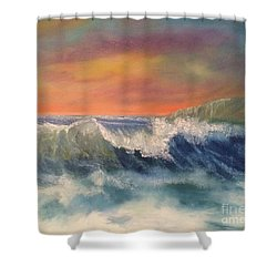 Shower Curtain featuring the painting Sea Mist by Denise Tomasura