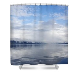 Sea Mist Rising Shower Curtain by Michele Cornelius
