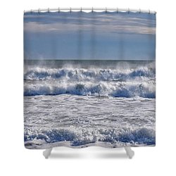 Sea Mist Shower Curtain by Tricia Marchlik