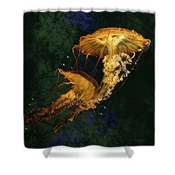 Sea Nettle Jellies Shower Curtain by Thanh Thuy Nguyen