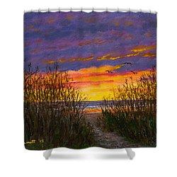 Sea Oat Sunrise # 2 Shower Curtain