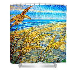 Sea Oats Dual#2 Shower Curtain