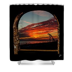 Sea Oats And Sunset Shower Curtain