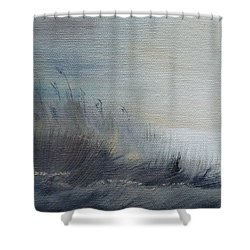 Shower Curtain featuring the painting Sea Oats by Judith Rhue