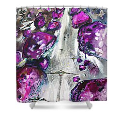 Sea Of Amethysts Travel Log 06 Shower Curtain