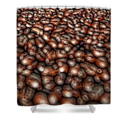 Sea Of Beans Shower Curtain by Gordon Dean II