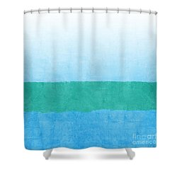 Sea Of Blues Shower Curtain by Linda Woods
