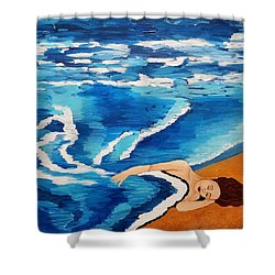 Shower Curtain featuring the painting Sea Of Dreams  by Jennah Lenae