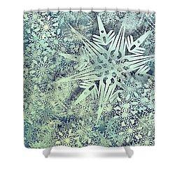 Sea Of Flakes Shower Curtain by AugenWerk Susann Serfezi