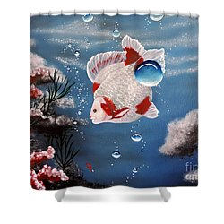 Sea Princess Shower Curtain by Dianna Lewis
