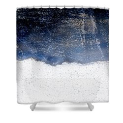 Sea, Satellite - Coast Line On Blue Ocean Illusion Shower Curtain
