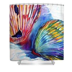 Sea Shell Abstract II Shower Curtain by Marcia Baldwin