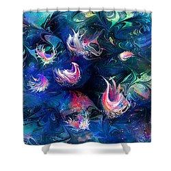 Sea Shells Shower Curtain by Rachel Christine Nowicki