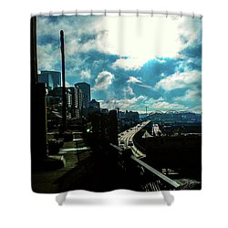 Sea Side, Seattle  Shower Curtain
