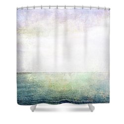 Sea, Sky And Light Grunge Image Shower Curtain