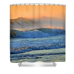 Sea Smoke Sunrise Shower Curtain by Dianne Cowen