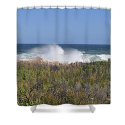 Sea Spray Shower Curtain by Linda Ferreira