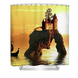 Sea Stack Castle Shower Curtain