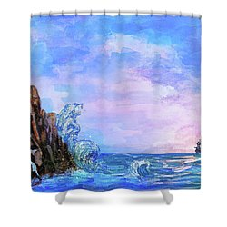 Sea Stories 2  Shower Curtain