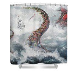 Sea Stories Shower Curtain by Mariusz Zawadzki