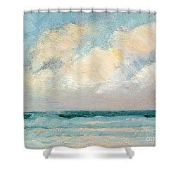 Sea Study - Morning Shower Curtain